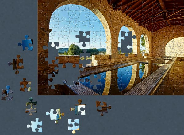 A Jigsaw Puzzle completed with BrainsBreaker